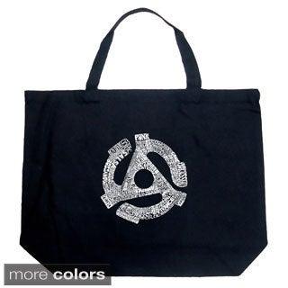 LA Pop Art Record Adapter Shopping Tote Bag