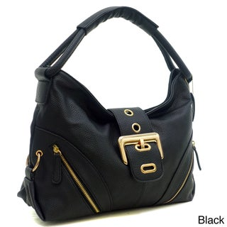 Dasein Buckled Flap Zipper Pocket Hobo Handbag (More options available)