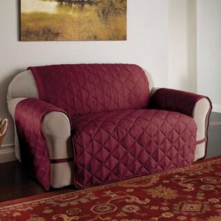Innovative Textile Solutions Burgundy Microfiber Ultimate Sofa Protector