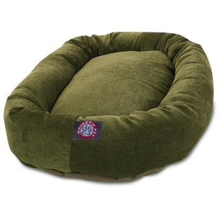 Majestic Pet 32-inch Villa Collection Micro-velvet Bagel-style Pet Bed