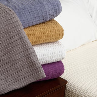 Woven Waffle Weave Cotton Blanket (More options available)