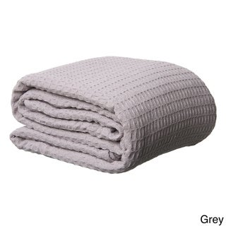 Heavyweight Woven Waffle Weave Cotton Blanket