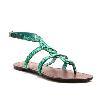 Gomax Berdine-92 Women's Braided Loopy Flat Sandals