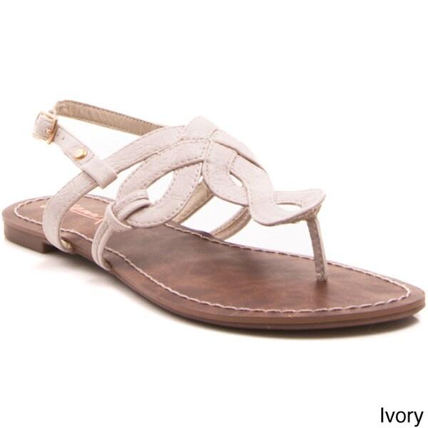 Gomax Berdine-80 Women's Woven Slide Thong Sandals