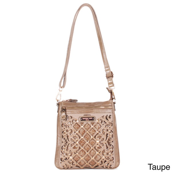 Nicole Lee 'Eleanor' Cut-out and Studded Messenger Bag