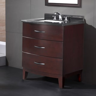 OVE Decors Tobo 30-inch Single Sink Bathroom Vanity with Granite Top
