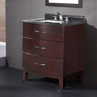 30 Inch Bathroom Vanity With Granite Top belmont decor 'armstong' single sink bathroom vanity - free