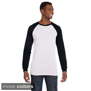 Men's Canvas Baseball Jersey T-shirt