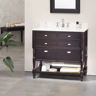 OVE Decors Elizabeth 36-inch Singe Sink Bathroom Vanity with Marble Top