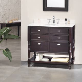 OVE Decors Elizabeth 36 inch Singe Sink Bathroom Vanity with Marble Top Country Vanities  Cabinets For Less Overstock com