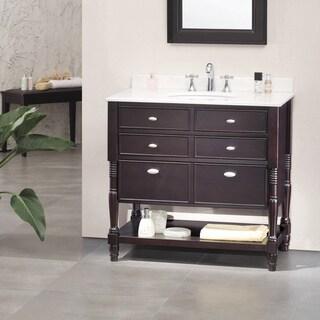 OVE Decors Elizabeth 36 Inch Singe Sink Bathroom Vanity With Marble Top
