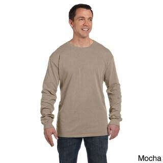 Men's Pre-shrunk Cotton Ringspun Long Sleeve T-shirt (3 options available)