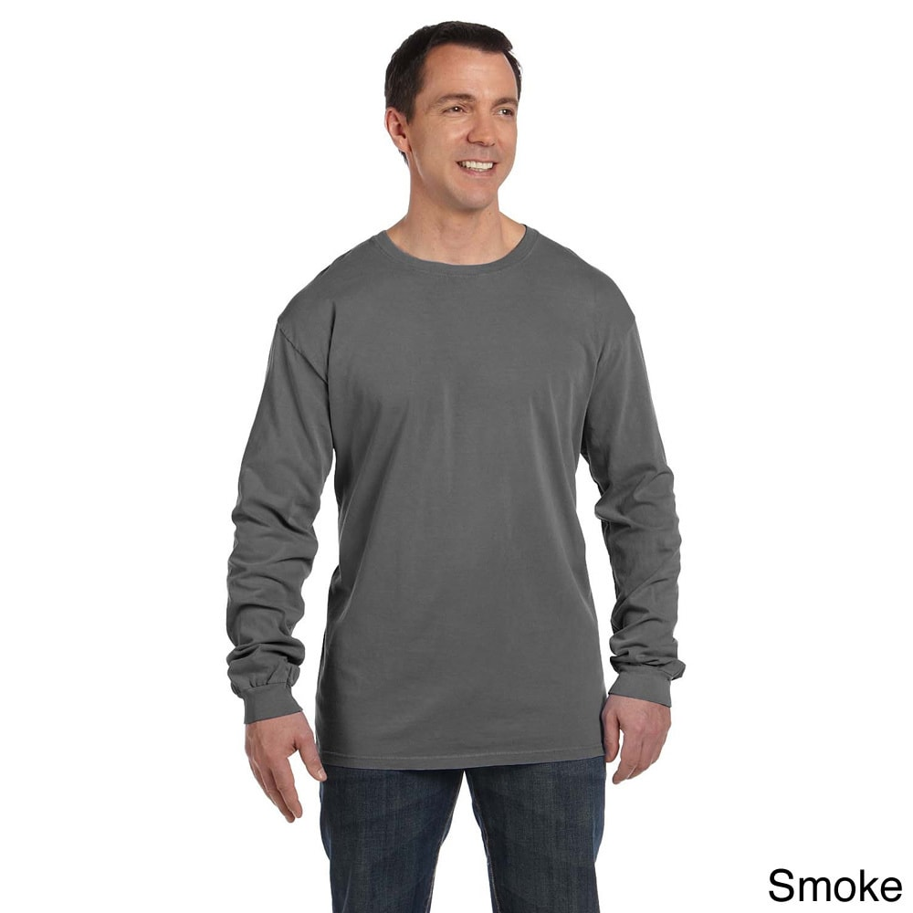cf325ffd Shop Men's Pre-shrunk Cotton Ringspun Long Sleeve T-shirt - On Sale - Free  Shipping On Orders Over $45 - Overstock - 8926322
