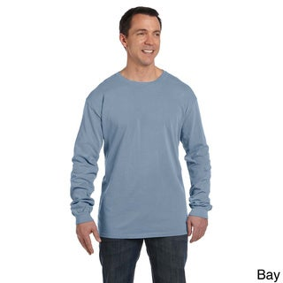 Men's Pre-shrunk Cotton Ringspun Long Sleeve T-shirt