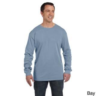 Men's Pre-shrunk Cotton Ringspun Long Sleeve T-shirt|https://ak1.ostkcdn.com/images/products/8926322/Mens-Pre-shrunk-Cotton-Ringspun-Long-Sleeve-T-shirt-P16142294.jpg?impolicy=medium