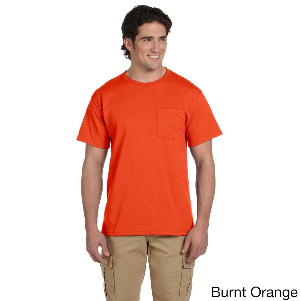 Safety Orange Jerzees Heavyweight Blend 50//50 Long Sleeve T-Shirt 3XL