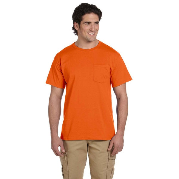 Jerzees Mens 50/50 Heavyweight Blend Pocket T-Shirt by  Amazing