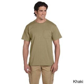 Jerzees Men's 50/50 Heavyweight Blend Pocket T-Shirt (More options available)