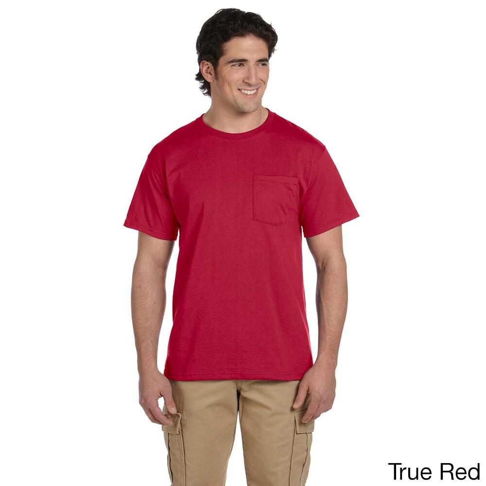Jerzees Men's 50/50 Heavyweight Blend Pocket T-Shirt (M,T...