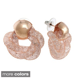 Alexa Starr Glass Mesh Twisted Earrings