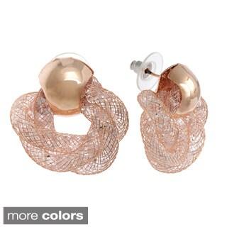 Alexa Starr Glass Mesh Twisted Earrings