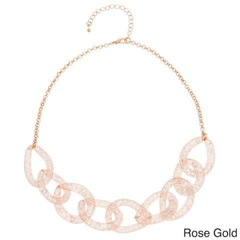 Glass Mesh Interlocking Necklace