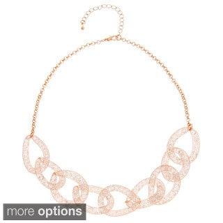 Alexa Starr Glass Mesh Interlocking Necklace