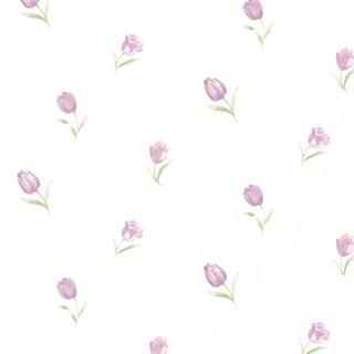 Orchid Purple Rose Toss Wallpaper