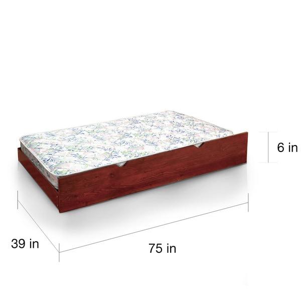 Furniture of America Nivo Tight Top White Twin Trundle Mattress