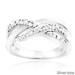 DB Designs 1/4ct TDW Diamond Intertwined Ring