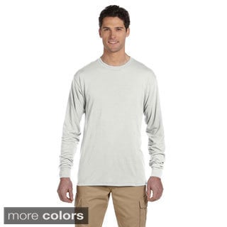 Jerzees Men's 100-percent Polyester Long-Sleeve T-Shirt