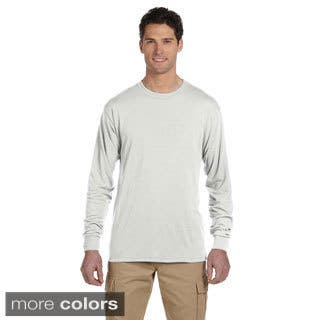 Jerzees Men's 100-percent Polyester Long-Sleeve T-Shirt|https://ak1.ostkcdn.com/images/products/8926581/Jerzees-Mens-100-percent-Polyester-Long-Sleeve-T-Shirt-P16142463.jpg?impolicy=medium