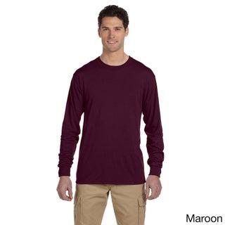 Jerzees Men's 100-percent Polyester Long-Sleeve T-Shirt (Option: 3XL,Maroon)