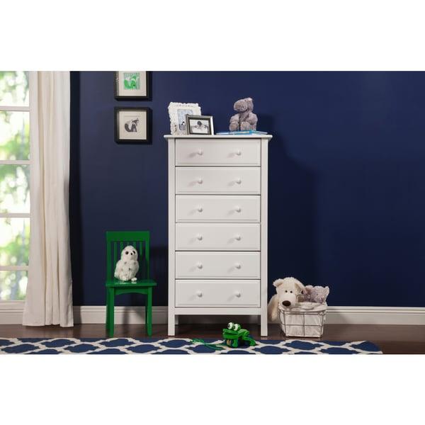 davinci jayden 6 drawer tall dresser white