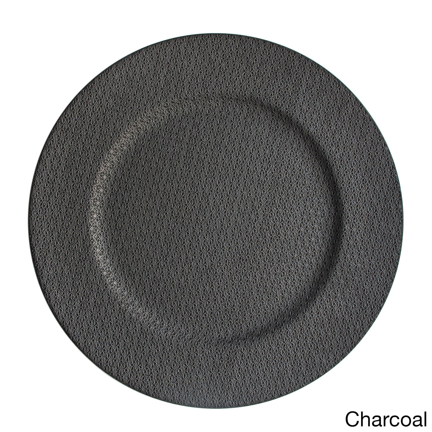 ChargeIt! By Jay 13-inch Textured Charger Plate (Charcoal...