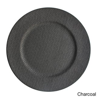 13-inch Textured Charger Plate (Option: Black)