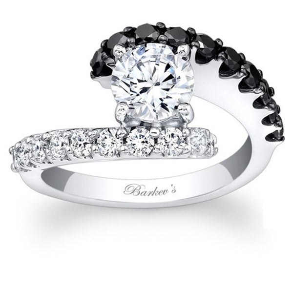 Barkev's Designer 14k White Gold 1 5/8ct TDW Black/ White Diamond Ring (F-G, SI1-SI2)