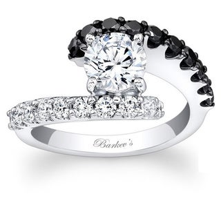 Barkev's Designer 14k White Gold 1 5/8ct TDW Black/ White Diamond Ring (F-G, SI1-SI2)
