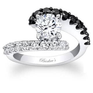 Barkev's Designer 14k White Gold 1 5/8ct TDW Black/ White Diamond Ring (Option: 6.25) https://ak1.ostkcdn.com/images/products/8926593/Barkevs-Designer-14k-White-Gold-1-5-8ct-TDW-Black-White-Diamond-Ring-P16142572.jpg?impolicy=medium
