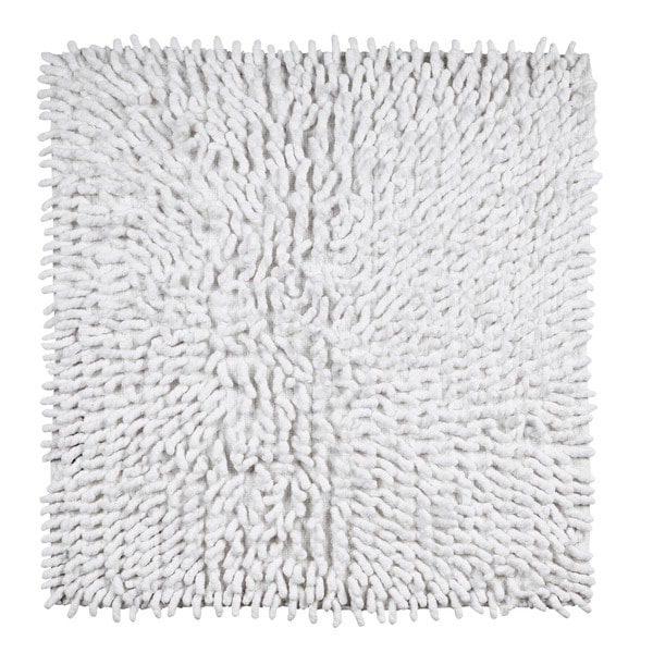 Loopy Chenille Handwoven Square 24 x 24 Bath Rug by Better Trends