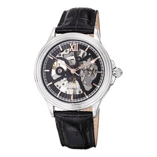 Stuhrling Original Men's Delphi Priam Automatic Skeleton Leather Strap Watch