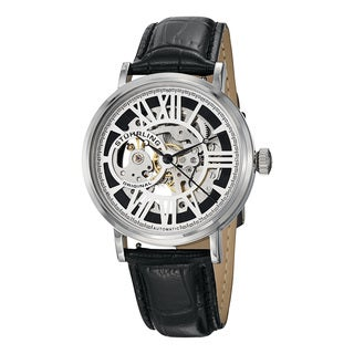 Stuhrling Original Men's Delphi Chariot Automatic Leather Strap Watch Set