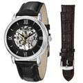 Deals on Stuhrling Original Chamberlain Mechanical Leather Strap Mens Watch