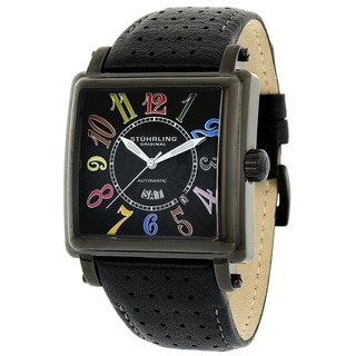 Stuhrling Original Men's Manchester Ozzie Automatic Leather Strap Watch