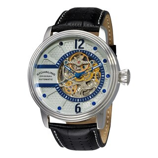 Stuhrling Original Men's Prospero Automatic Leather Strap Watch
