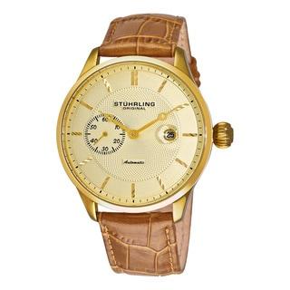 Stuhrling Original Men's Heritage Classic Automatic Leather Strap Watch