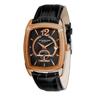 Stuhrling Original Men's Taurus Automatic Leather Strap Watch