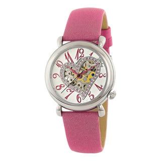 Stuhrling Original Women's Aphrodite Delight Automatic Leather Strap Watch