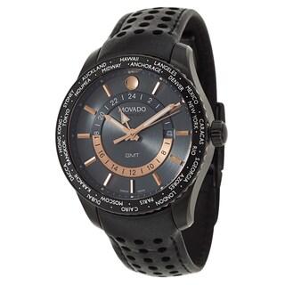 Movado Men's 2600118 '800 Series' Black Leather Swiss Watch