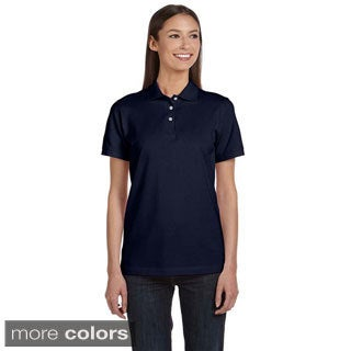 Anvil Women's Ringspun Pique Polo (Option: White)